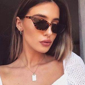 Naila- Leopard Cat Eye Chic Slim Sunglasses